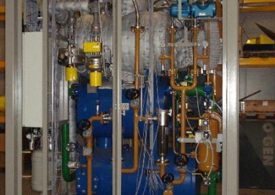 Het samenbouwen van een Triogen warmteterugwininstallatie inclusief mapressluchtleiding, afpersen en vacumeren.
